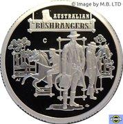 1 Dollar - Elizabeth II (4th Portrait - Australia's Bushrangers, Silver Proof) -  reverse