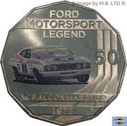 50 Cents - Elizabeth II (4th Portrait - Ford High Octane - 1977 XC Falcon Hardtop) -  reverse
