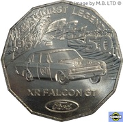 50 Cents - Elizabeth II (4th Portrait - Ford High Octane - 1967 XR Falcon GT) -  reverse