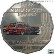 50 Cents - Elizabeth II (4th Portrait - Ford High Octane - 1971 XY Falcon GT-HO Phase III) -  reverse