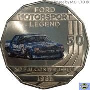 50 Cents - Elizabeth II (4th Portrait - Ford High Octane - 1981 XD Falcon Tru-Blu) -  reverse