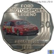 50 Cents - Elizabeth II (4th Portrait - Ford High Octane - 1989 Sierra RS500 Cosworth) -  reverse
