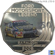 50 Cents - Elizabeth II (4th Portrait - Ford High Octane - 2006 BA Falcon) -  reverse