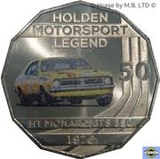 50 Cents - Elizabeth II (4th Portrait - Holden High Octane - 1970 HT Monaro GTS 350) -  reverse