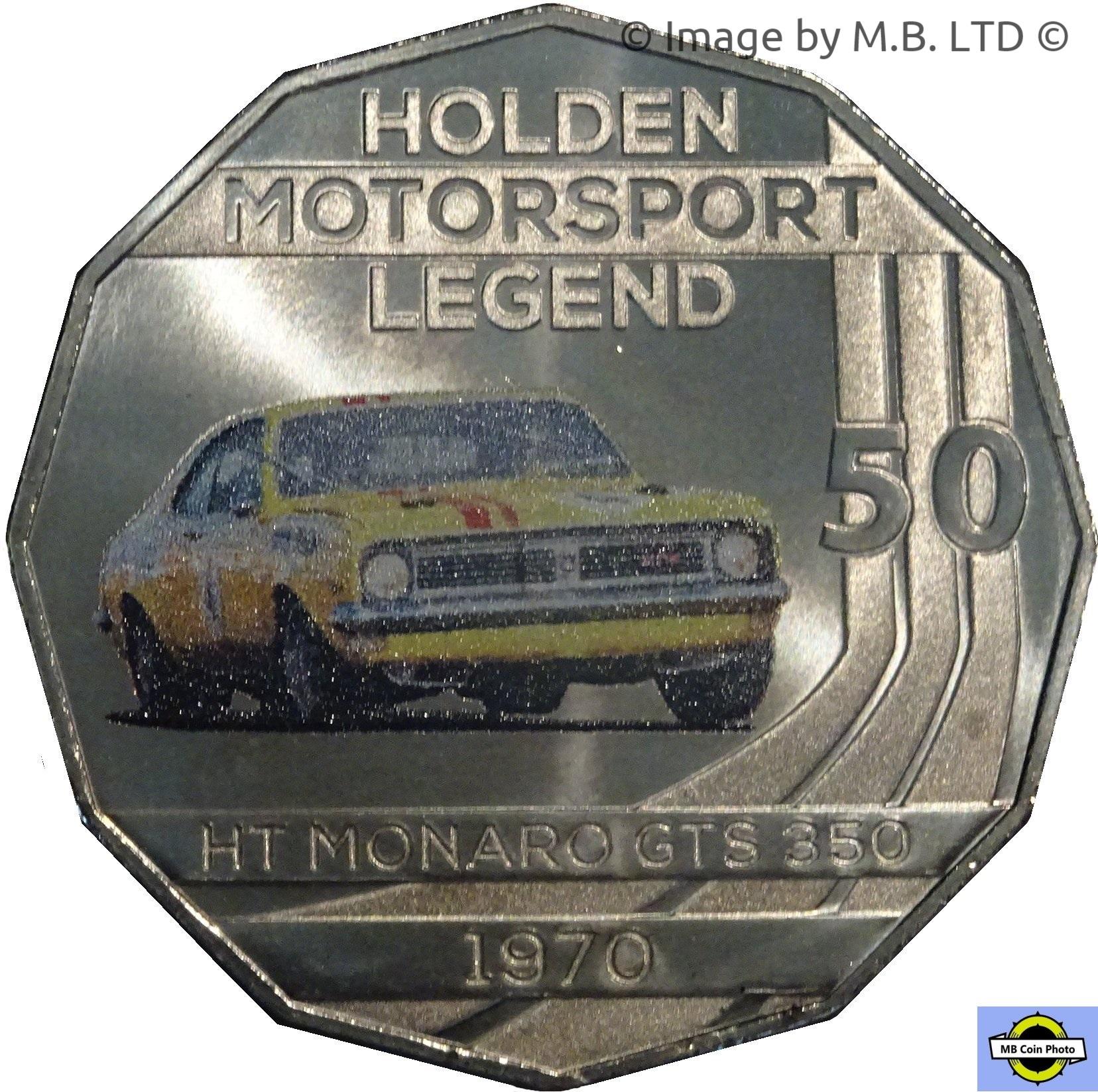 2018 Holden Motorsport RAM Coloured Unc coin 1970 HT Monaro GTS 350