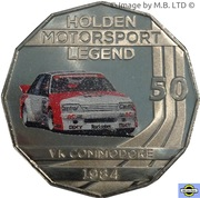 50 Cents - Elizabeth II (4th Portrait - Holden High Octane - 1984 VK Commodore) -  reverse