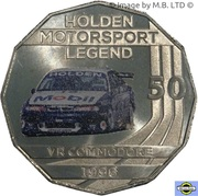 50 Cents - Elizabeth II (4th Portrait - Holden High Octane - 1996 VR Commodore) -  reverse