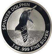 1 Dollar - Elizabeth II (6th Portrait - Spinner Dolphin - Silver Bullion Coin) -  reverse