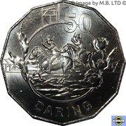 50 Cents - Elizabeth II (4th Portrait - Anzac Spirit - Daring) -  reverse