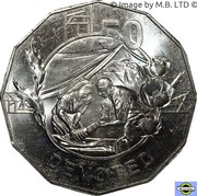 50 Cents - Elizabeth II (4th Portrait - Anzac Spirit - Devoted) -  reverse