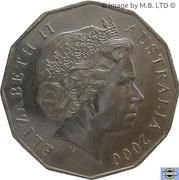 50 Cents - Elizabeth II (4th Portrait - Millennium) -  obverse