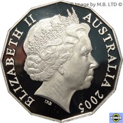 50 Cents - Elizabeth II (4th Portrait - Remembrance - End of World War II) -  obverse