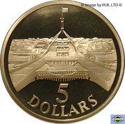 5 Dollars - Elizabeth II (3rd Portrait - Parliament House) -  obverse
