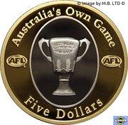 5 Dollars - Elizabeth II (4th Portrait - AFL - Australia's Own Game) -  reverse
