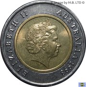 5 Dollars - Elizabeth II (4th Portrait - Royal Flying Doctor Service) -  obverse