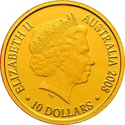 10 Dollars - Elizabeth II (4th Portrait - Year of the Rat - Gold Proof) -  obverse