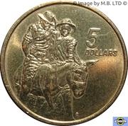 5 Dollars - Elizabeth II (3rd Portrait - ANZAC 75 Years) -  reverse