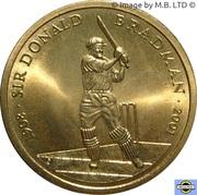 5 Dollars - Elizabeth II (4th Portrait - Life of Sir Donald Bradman) -  reverse