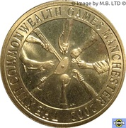 5 Dollars - Elizabeth II (4th Portrait - Manchester Commonwealth Games 2002) -  reverse