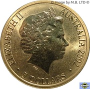 5 Dollars - Elizabeth II (4th Portrait - Manchester Commonwealth Games 2002) -  obverse