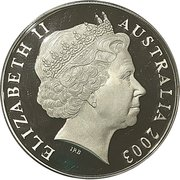 5 Dollars - Elizabeth II (4th Portrait - Rugby World Cup Gold Plated Silver Proof) -  obverse