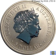 5 Dollars - Elizabeth II (4th Portrait - 150th Anniversary Eureka Stockade) -  obverse