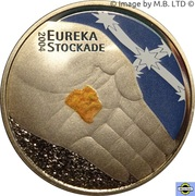 5 Dollars - Elizabeth II (4th Portrait - 150th Anniversary Eureka Stockade) -  reverse