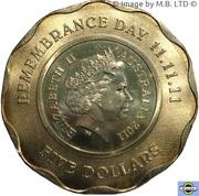 5 Dollars - Elizabeth II (4th Portrait - Remembrance Day) -  obverse