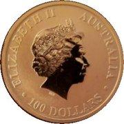 100 Dollars - Elizabeth II (4th Portrait - Australian Kangaroo - Gold Bullion Coinage) -  obverse
