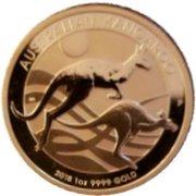 100 Dollars - Elizabeth II (4th Portrait - Australian Kangaroo - Gold Bullion Coin) -  reverse