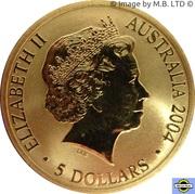 5 Dollars - Elizabeth II (4th Portrait - Sydney to Athens 2004) -  obverse
