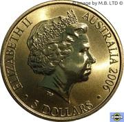 5 Dollars - Elizabeth II (4th Portrait - XVIII Commonwealth Games - Melbourne 2006) -  obverse