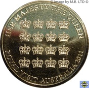 5 Dollar - Elizabeth II (4th Portrait - Queen's Visit Commonwealth Heads of Government Meeting) -  reverse