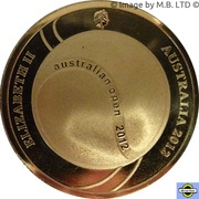 5 Dollars - Elizabeth II (4th Portrait - 100th Mens Champion Australian Open) -  obverse
