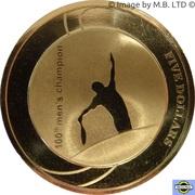 5 Dollars - Elizabeth II (4th Portrait - 100th Mens Champion Australian Open) -  reverse