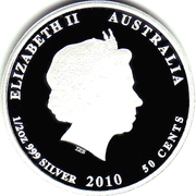 50 Cents - Elizabeth II (4th Portrait - Clownfish) – obverse