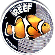 50 Cents - Elizabeth II (4th Portrait - Clownfish) – reverse
