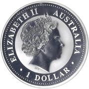 """1 Dollar - Elizabeth II (""""Lunar Year Series"""" Silver Bullion Coinage) -  obverse"""