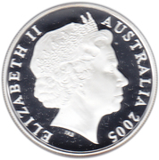 1 Dollar - Elizabeth II (4th Portrait - Kangaroo - Silver Bullion Coin) -  obverse
