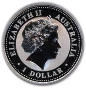 1 Dollar - Elizabeth II (4th Portrait - Year of the Dog - Silver Bullion Coin) -  obverse