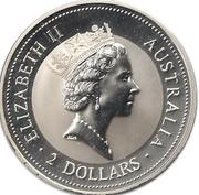 2 Dollars - Elizabeth II (3rd Portrait - Australian Kookaburra) -  obverse