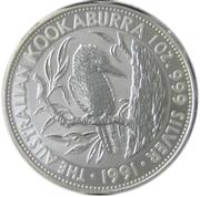 5 Dollars - Elizabeth II (3rd Portrait - Australian Kookaburra) -  reverse