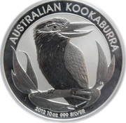 10 Dollars - Elizabeth II (4th Portrait - Australian Kookaburra - Silver Bullion Coin) -  reverse
