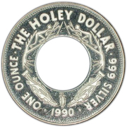 1 Dollar - Elizabeth II (3rd Portrait - The Holey Dollar) – reverse