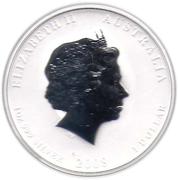 """1 Dollar - Elizabeth II (""""Lunar Year Series II"""" Silver Bullion Coinage) -  obverse"""