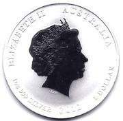 """1 Dollar - Elizabeth II (""""Lunar Year Series II"""" Silver Bullion Coinage) – obverse"""