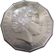 50 Cents - Elizabeth II (4th Portrait - Royal Visit) -  obverse