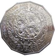 50 Cents - Elizabeth II (4th Portrait - Royal Engagement) -  reverse