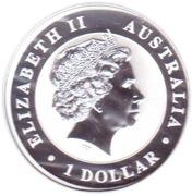 "1 Dollar - Elizabeth II (""Koala"" Silver Bullion Coinage) -  obverse"