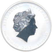 1 Dollar - Elizabeth II (4th Portrait - Year of the Dragon - Lion Privy) -  obverse